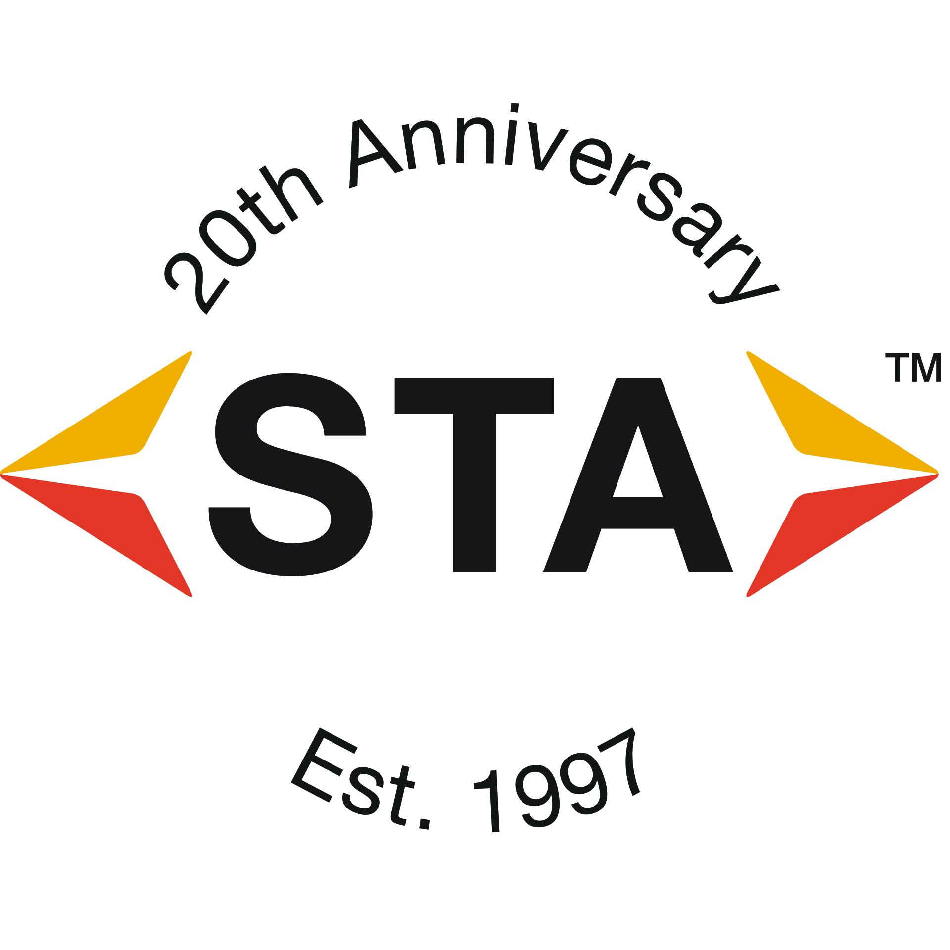 STA 20th Anniversary logo